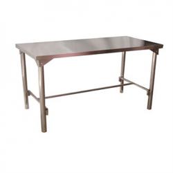 Mesa com Estrutura Inox 304 Fixo ou Desmontável em H